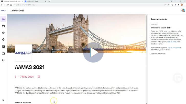 AAMAS on Underline walkthrough video